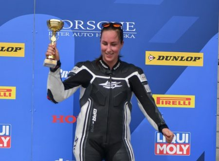 Jasmin Sarjos terza a Oschersleben nell'Alpe Adria Superstock 600
